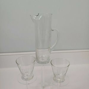 MCM Decanter, Glasses Me, You, Ours Etched Martini